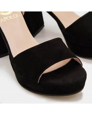 Sandalia negra pala lisa
