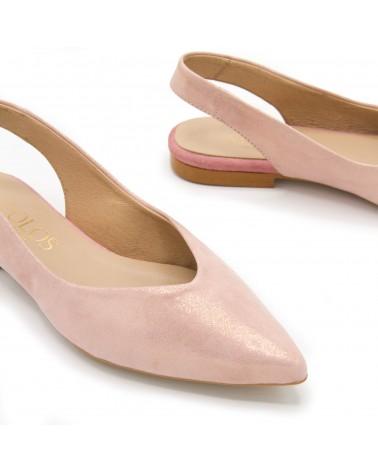 Zapato plano abierto rosa