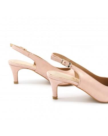 Zapato salón destalonado