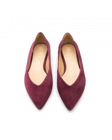Burgundy Flat shoe