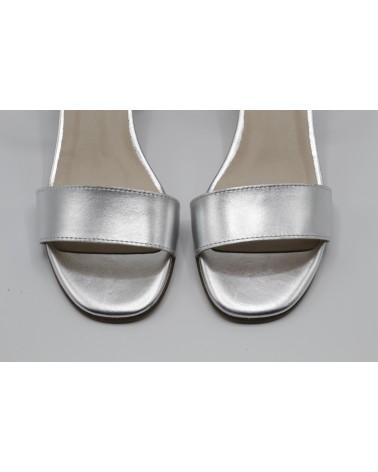 Silver metallic sandal