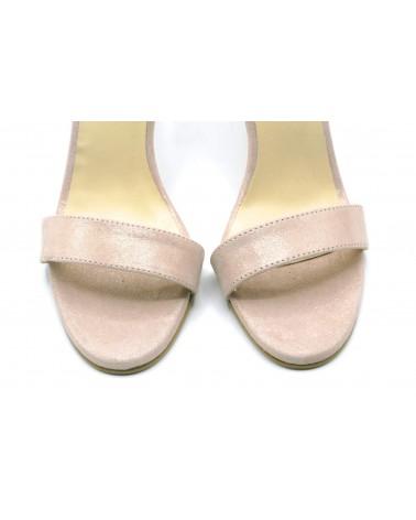 Sandalia tacón nude