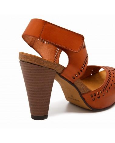 sandalia cuero mujer
