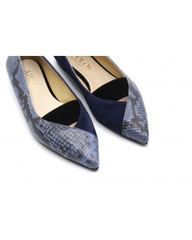 Combined flat shoe