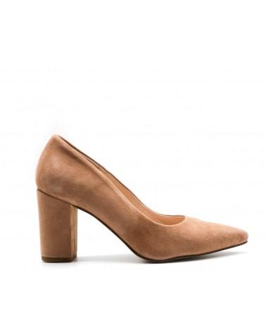 Nude suede lounge shoe