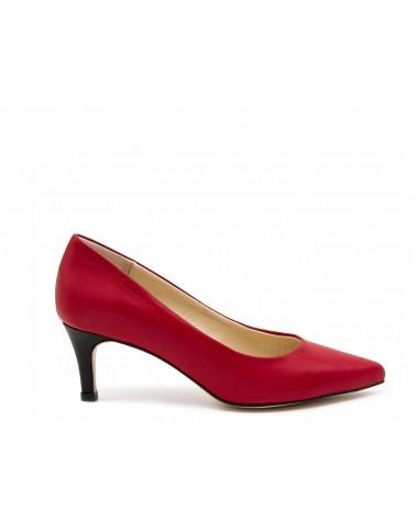 Zapato salón napa rojo