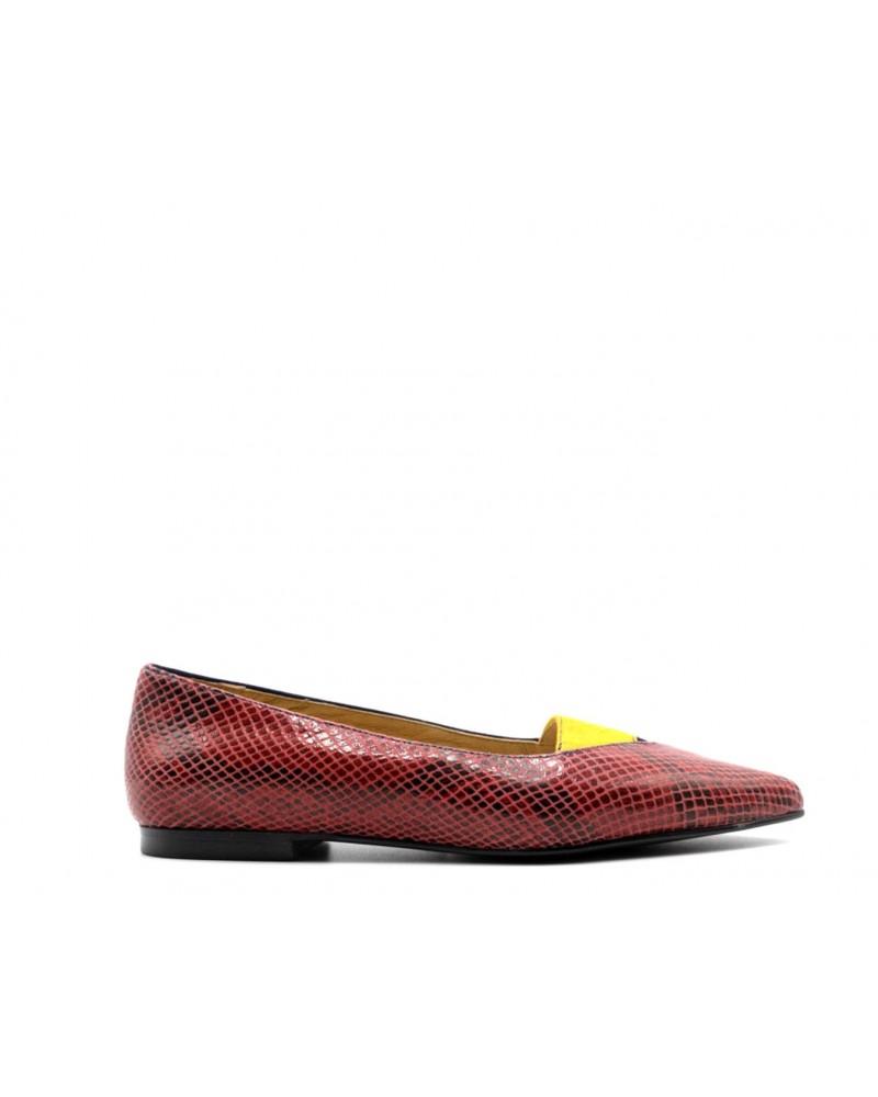 Zapato plano combinado