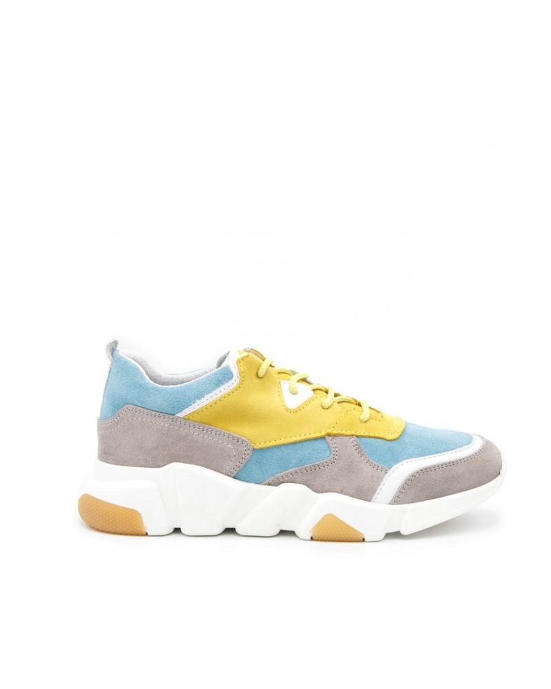 Zapato estilo casual sport amarillo/azul