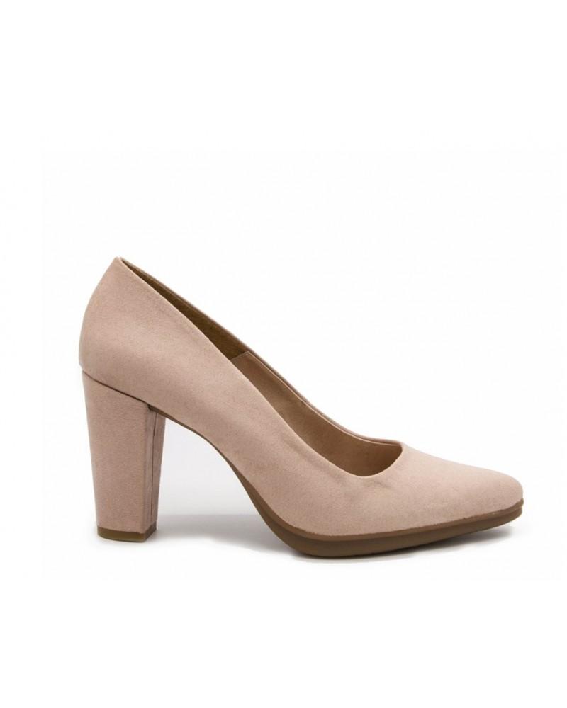 Zapato nude tacón alto