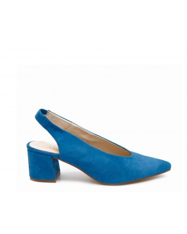 Shoe lounge with no heels blue