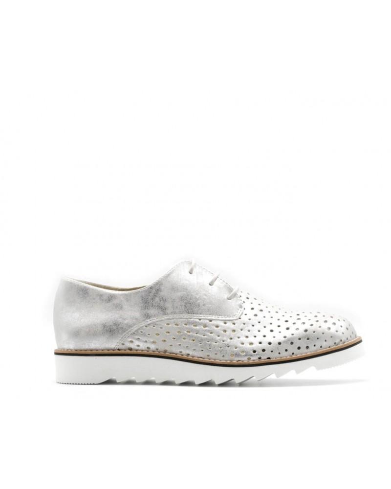 zapato sport plateado