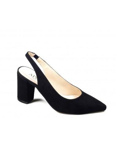 Zapato salón destalonado negro