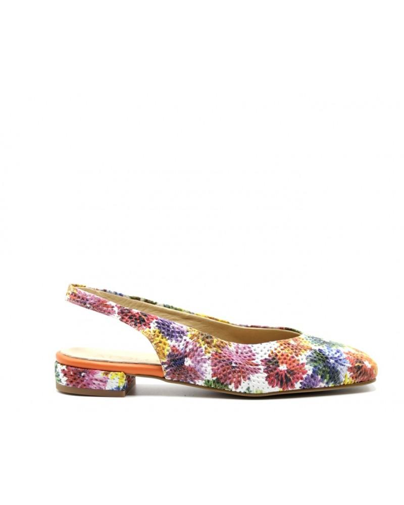 zapato estampado floral