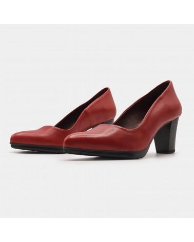 Red heeled shoe