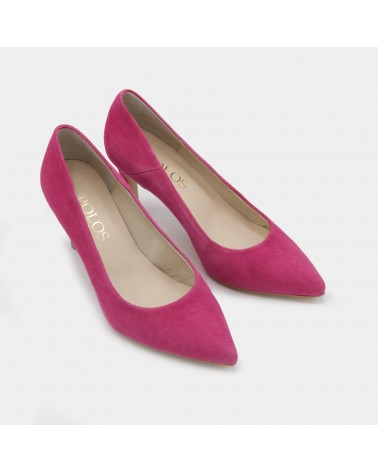 Fuchsia suede lounge shoe